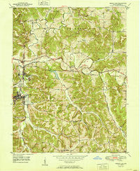 French Lick Indiana Historical topographic map, 1:24000 scale, 7.5 X 7.5 Minute, Year 1951
