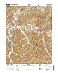 French Lick Indiana Current topographic map, 1:24000 scale, 7.5 X 7.5 Minute, Year 2016