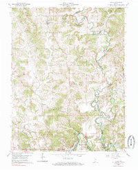 Fulda Indiana Historical topographic map, 1:24000 scale, 7.5 X 7.5 Minute, Year 1960