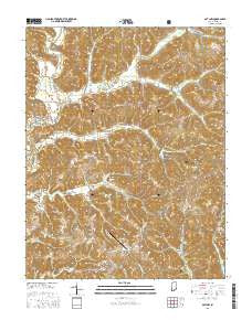 Gatchel Indiana Current topographic map, 1:24000 scale, 7.5 X 7.5 Minute, Year 2016