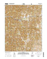 Georgia Indiana Current topographic map, 1:24000 scale, 7.5 X 7.5 Minute, Year 2016