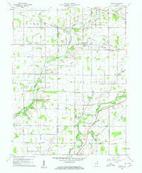 Gilman Indiana Historical topographic map, 1:24000 scale, 7.5 X 7.5 Minute, Year 1960