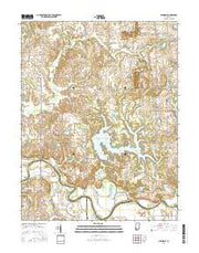 Glendale Indiana Current topographic map, 1:24000 scale, 7.5 X 7.5 Minute, Year 2016 from Indiana Maps Store
