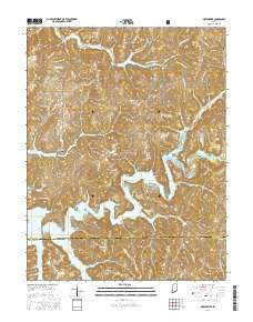 Greenbrier Indiana Current topographic map, 1:24000 scale, 7.5 X 7.5 Minute, Year 2016