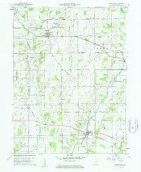 Greens Fork Indiana Historical topographic map, 1:24000 scale, 7.5 X 7.5 Minute, Year 1960