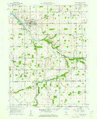 Greentown Indiana Historical topographic map, 1:24000 scale, 7.5 X 7.5 Minute, Year 1960