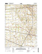 Hanna Indiana Current topographic map, 1:24000 scale, 7.5 X 7.5 Minute, Year 2016 from Indiana Map Store