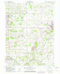 Hartford City West Indiana Historical topographic map, 1:24000 scale, 7.5 X 7.5 Minute, Year 1960