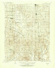 Haubstadt Indiana Historical topographic map, 1:62500 scale, 15 X 15 Minute, Year 1901