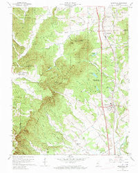 Henryville Indiana Historical topographic map, 1:24000 scale, 7.5 X 7.5 Minute, Year 1960