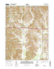 Holland Indiana Current topographic map, 1:24000 scale, 7.5 X 7.5 Minute, Year 2016 from Indiana Maps Store