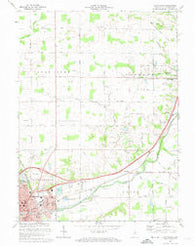 Huntington Indiana Historical topographic map, 1:24000 scale, 7.5 X 7.5 Minute, Year 1972