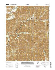 Huron Indiana Current topographic map, 1:24000 scale, 7.5 X 7.5 Minute, Year 2016
