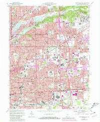 Indianapolis East Indiana Historical topographic map, 1:24000 scale, 7.5 X 7.5 Minute, Year 1967