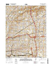 Indianapolis East Indiana Current topographic map, 1:24000 scale, 7.5 X 7.5 Minute, Year 2016 from Indiana Maps Store