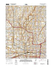 Indianapolis West Indiana Current topographic map, 1:24000 scale, 7.5 X 7.5 Minute, Year 2016 from Indiana Maps Store