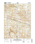 Inwood Indiana Current topographic map, 1:24000 scale, 7.5 X 7.5 Minute, Year 2016 from Indiana Map Store