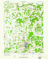 Jasper Indiana Historical topographic map, 1:24000 scale, 7.5 X 7.5 Minute, Year 1960