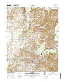 Jasper Indiana Current topographic map, 1:24000 scale, 7.5 X 7.5 Minute, Year 2016