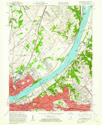 Jeffersonville Indiana Historical topographic map, 1:24000 scale, 7.5 X 7.5 Minute, Year 1960