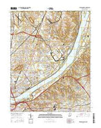 Jeffersonville Indiana Current topographic map, 1:24000 scale, 7.5 X 7.5 Minute, Year 2016 from Indiana Map Store
