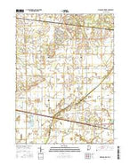 Kingsford Heights Indiana Current topographic map, 1:24000 scale, 7.5 X 7.5 Minute, Year 2016 from Indiana Map Store