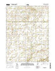 Kirkpatrick Indiana Current topographic map, 1:24000 scale, 7.5 X 7.5 Minute, Year 2016 from Indiana Maps Store