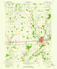 Knightstown Indiana Historical topographic map, 1:24000 scale, 7.5 X 7.5 Minute, Year 1960