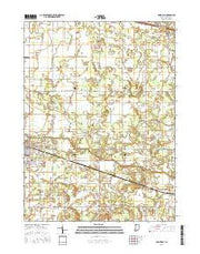 Knox East Indiana Current topographic map, 1:24000 scale, 7.5 X 7.5 Minute, Year 2016 from Indiana Maps Store