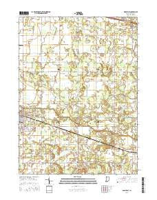 Knox East Indiana Current topographic map, 1:24000 scale, 7.5 X 7.5 Minute, Year 2016