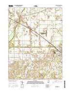 Knox West Indiana Current topographic map, 1:24000 scale, 7.5 X 7.5 Minute, Year 2016 from Indiana Map Store