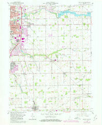 Kokomo East Indiana Historical topographic map, 1:24000 scale, 7.5 X 7.5 Minute, Year 1960