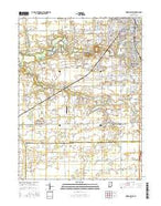 Kokomo West Indiana Current topographic map, 1:24000 scale, 7.5 X 7.5 Minute, Year 2016 from Indiana Map Store