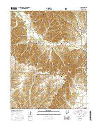 Kurtz Indiana Current topographic map, 1:24000 scale, 7.5 X 7.5 Minute, Year 2016