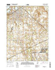LaPorte East Indiana Current topographic map, 1:24000 scale, 7.5 X 7.5 Minute, Year 2016 from Indiana Maps Store