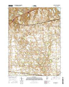 LaPorte West Indiana Current topographic map, 1:24000 scale, 7.5 X 7.5 Minute, Year 2016