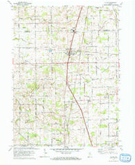 La Paz Indiana Historical topographic map, 1:24000 scale, 7.5 X 7.5 Minute, Year 1972