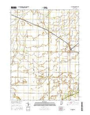 La Crosse Indiana Current topographic map, 1:24000 scale, 7.5 X 7.5 Minute, Year 2016 from Indiana Maps Store