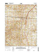 La Paz Indiana Current topographic map, 1:24000 scale, 7.5 X 7.5 Minute, Year 2016 from Indiana Map Store