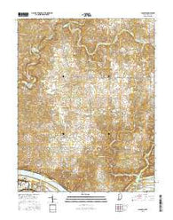 Laconia Indiana Current topographic map, 1:24000 scale, 7.5 X 7.5 Minute, Year 2016