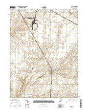 Ladoga Indiana Current topographic map, 1:24000 scale, 7.5 X 7.5 Minute, Year 2016 from Indiana Maps Store