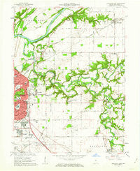 Lafayette East Indiana Historical topographic map, 1:24000 scale, 7.5 X 7.5 Minute, Year 1961