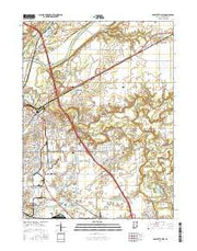 Lafayette East Indiana Current topographic map, 1:24000 scale, 7.5 X 7.5 Minute, Year 2016 from Indiana Maps Store