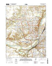 Lafayette West Indiana Current topographic map, 1:24000 scale, 7.5 X 7.5 Minute, Year 2016 from Indiana Maps Store