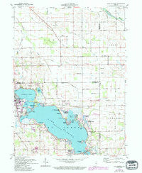 Lake Wawasee Indiana Historical topographic map, 1:24000 scale, 7.5 X 7.5 Minute, Year 1961