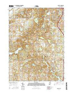 Lakeville Indiana Current topographic map, 1:24000 scale, 7.5 X 7.5 Minute, Year 2016 from Indiana Map Store