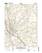 Lebanon Indiana Current topographic map, 1:24000 scale, 7.5 X 7.5 Minute, Year 2016 from Indiana Map Store