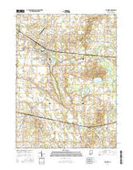 Ligonier Indiana Current topographic map, 1:24000 scale, 7.5 X 7.5 Minute, Year 2016 from Indiana Map Store