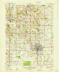 Linton Indiana Historical topographic map, 1:24000 scale, 7.5 X 7.5 Minute, Year 1947