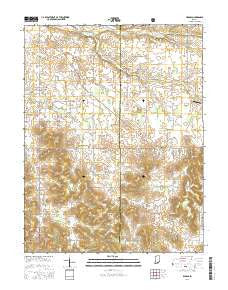 Livonia Indiana Current topographic map, 1:24000 scale, 7.5 X 7.5 Minute, Year 2016
